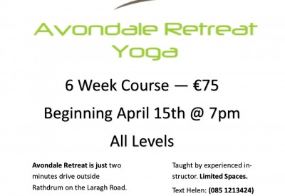 Yoga Course starting in April and Poetry
