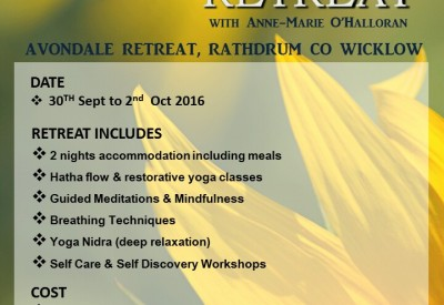 Yoga Retreat this coming September 2016!