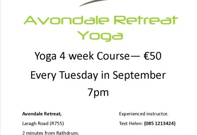 AvondaleRetreatYoga September