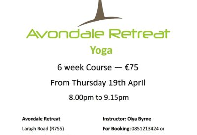 6 week yoga course 8th March @avondaleretreat