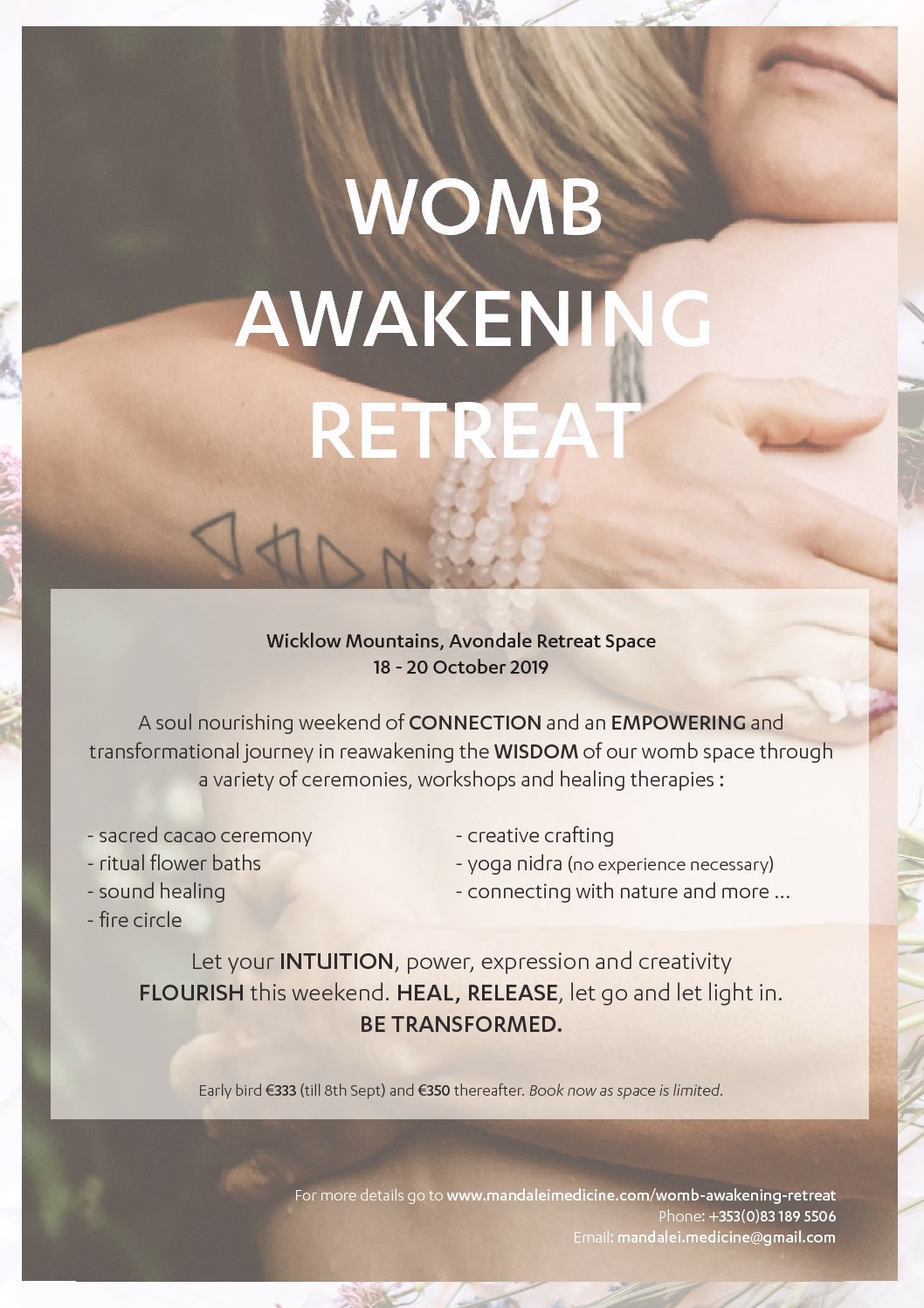 Womb Awakening Retreat - 18-20th October 2019